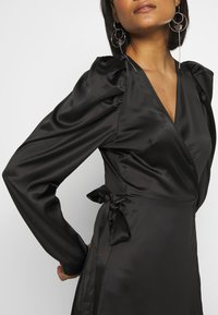 Gina Tricot - JOAN WRAP DRESS - Day dress - black - 4