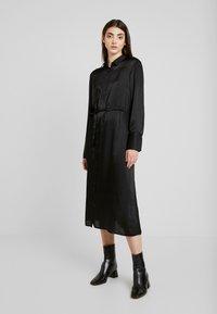 Gina Tricot - LOVISA DRESS - Skjortekjole - black - 0