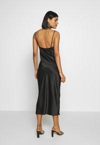 Gina Tricot - COWL NECK DRESS - Vestido de fiesta - black - 2