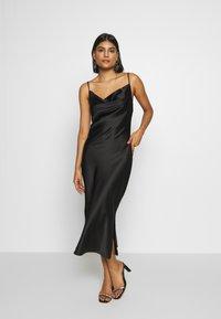 Gina Tricot - COWL NECK DRESS - Vestido de fiesta - black - 0