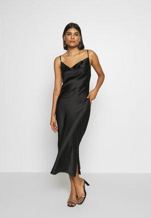 COWL NECK DRESS - Společenské šaty - black