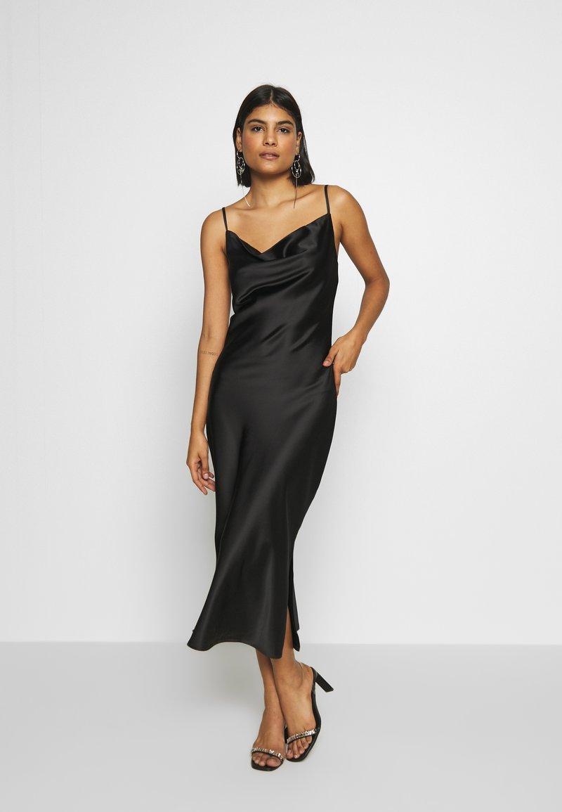 Gina Tricot - COWL NECK DRESS - Vestido de fiesta - black