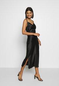 Gina Tricot - COWL NECK DRESS - Vestido de fiesta - black - 1