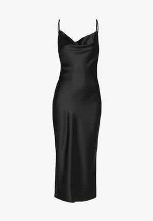 COWL NECK DRESS - Ballkjole - black