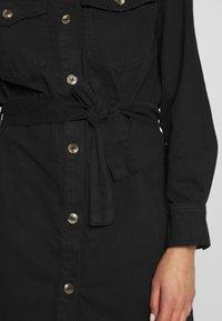 Gina Tricot - SILJE DRESS - Dongerikjole - black denim - 5