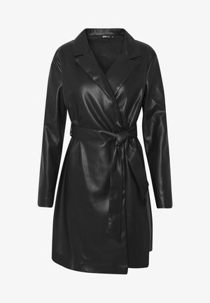 VAL BLAZER DRESS - Skjortklänning - black