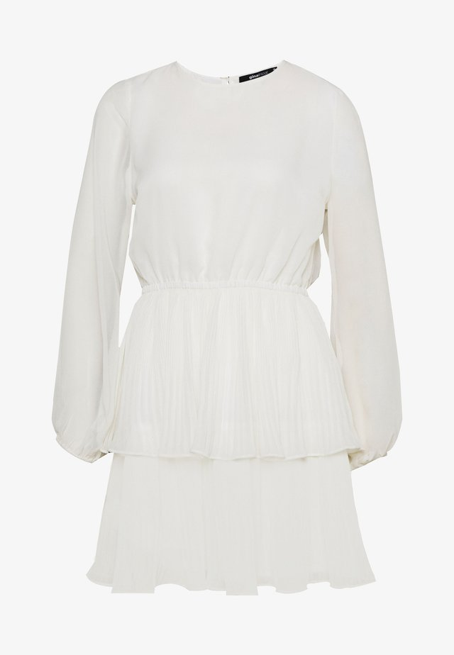 AMBER PLEATED DRESS - Vestido informal - offwhite