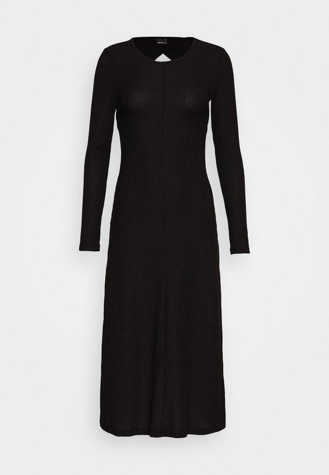 YOLANDA DRESS - Gebreide jurk - black