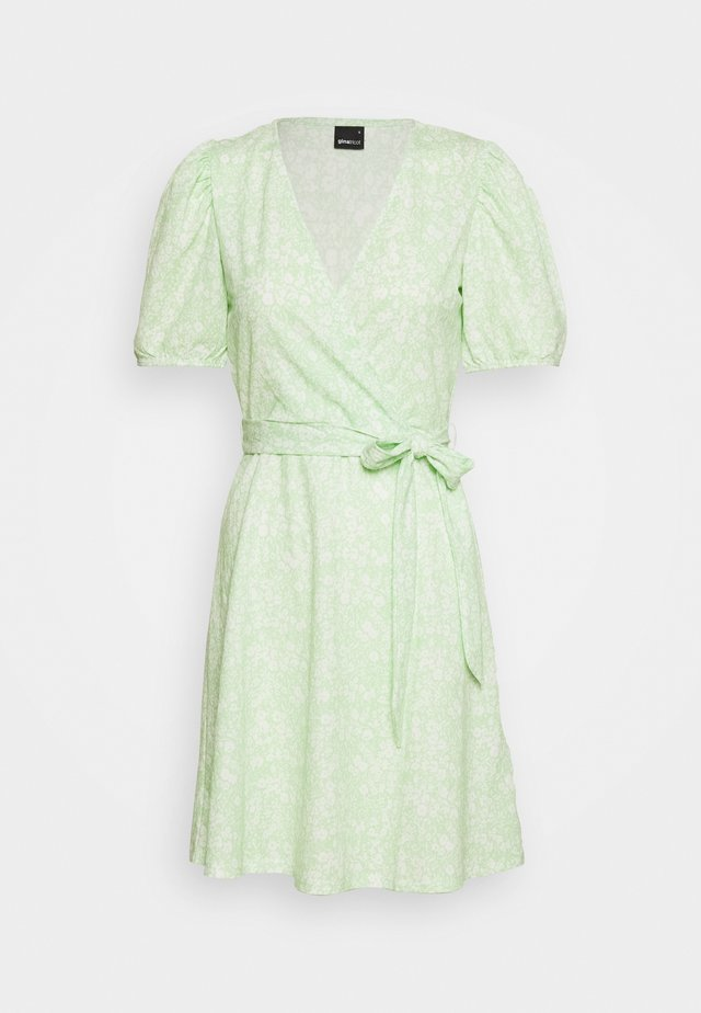 WANJA WRAP DRESS - Jerseyklänning - green