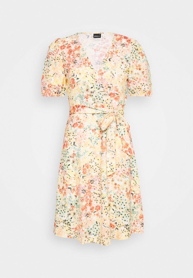 Gina Tricot - WANJA WRAP DRESS - Jerseykjoler - multi coloured