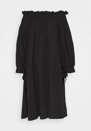 KAMILA OFFSHOULDER DRESS - Vestito estivo - black