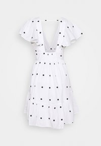 Gina Tricot - SOPHIE DRESS - Cocktail dress / Party dress - white/black - 1
