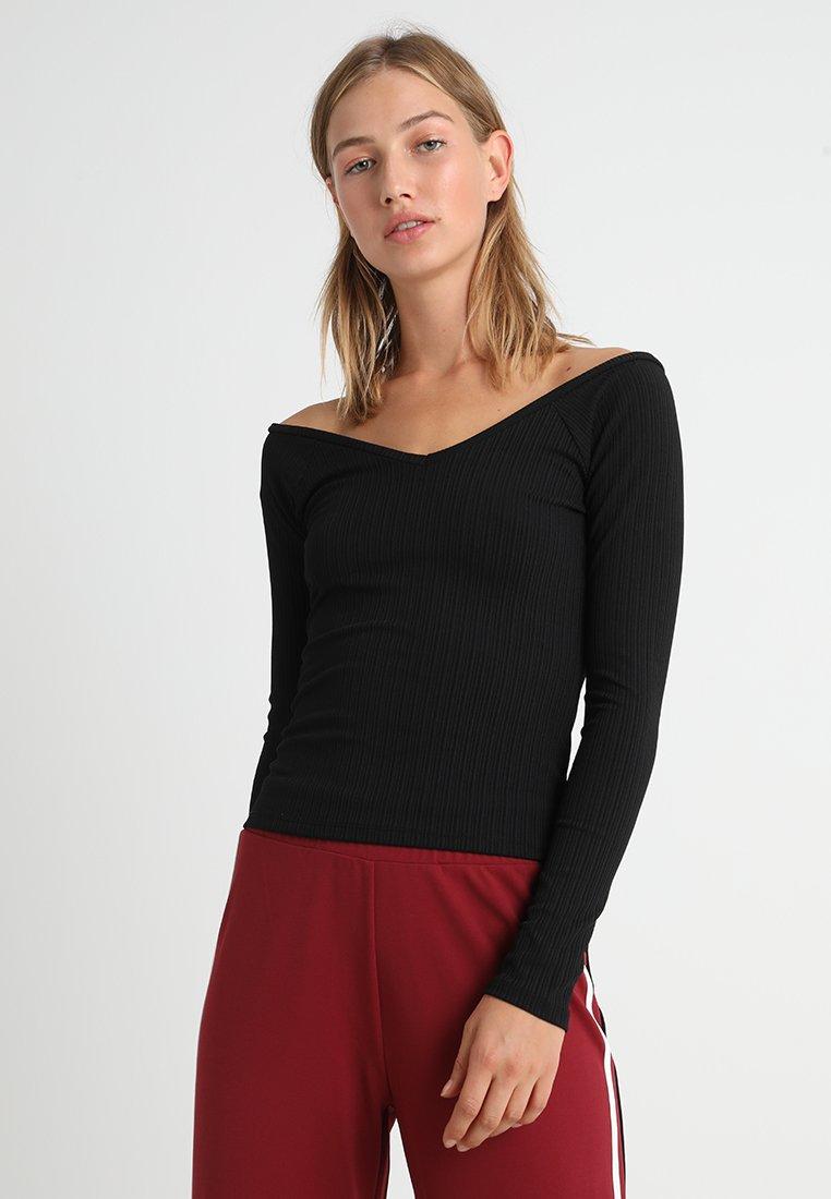 Gina Tricot - MALVA - T-shirt à manches longues - black