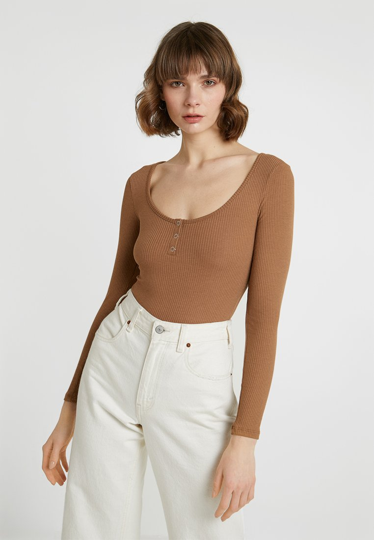 Gina Tricot - SOFIA BODY - Long sleeved top - toasted coconut