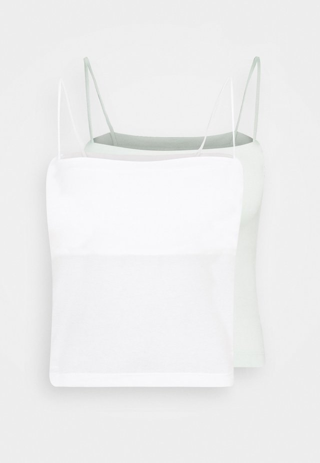SCARLETT SINGLET 2 PACK - Top - offwhite/green