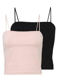 Gina Tricot - SCARLETT SINGLET 2 PACK - Top - black/pink haze - 0