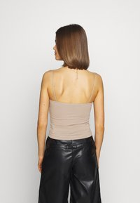 Gina Tricot - SCARLETT 2 PACK - Linne - black/simply taupe - 3