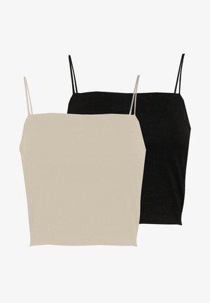 SCARLETT 2 PACK - Débardeur - black/simply taupe