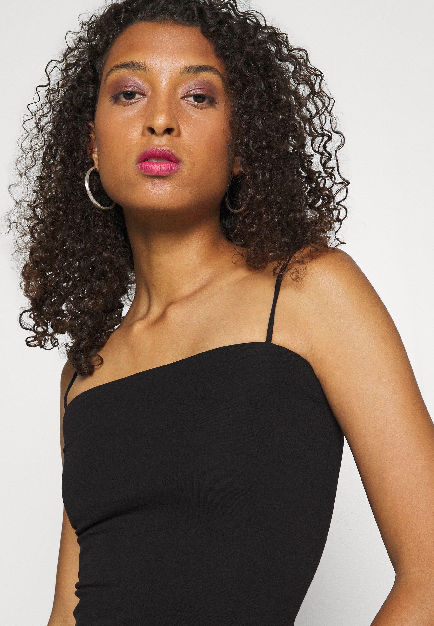 Gina Tricot SCARLETT SINGLET 2 PACK - Topper - black/pink peacock