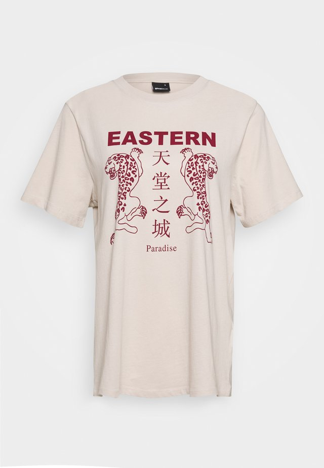 ELLIE TEE - T-Shirt print - stone