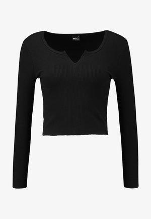 VERA - T-shirt à manches longues - black