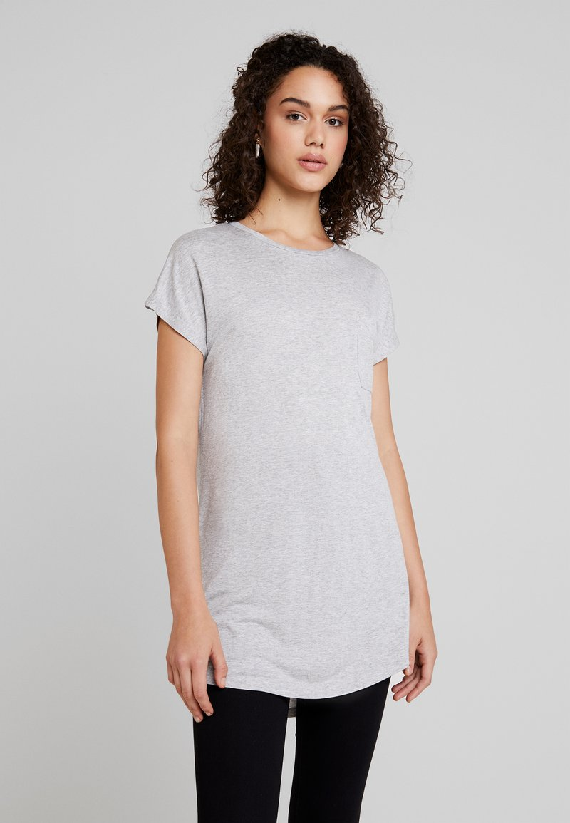 Gina Tricot - SELENA - T-Shirt print - grey melange
