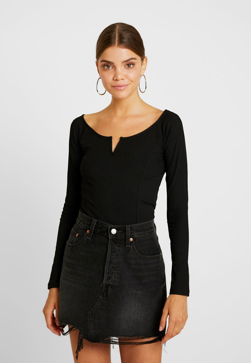 Gina Tricot - EXCLUSIVE  - Topper langermet - black