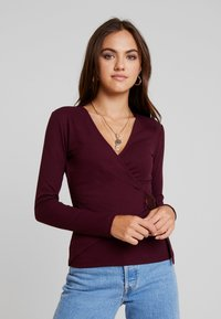 Gina Tricot - EXCLUSIVE TINDRA WRAP - Long sleeved top - winetasting - 0