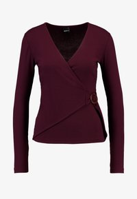 Gina Tricot - EXCLUSIVE TINDRA WRAP - Long sleeved top - winetasting - 4