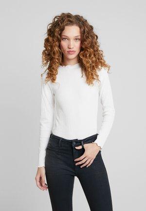 EXCLUSIVE LINDA - Top sdlouhým rukávem - off white