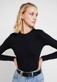 Gina Tricot - BELINDA - Camiseta de manga larga - black - 3