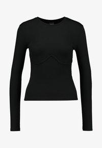 Gina Tricot - BELINDA - Camiseta de manga larga - black - 4