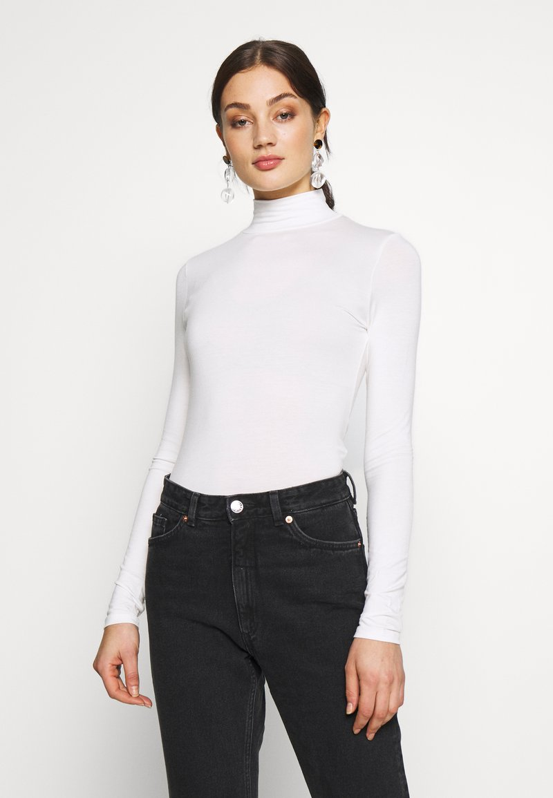 Gina Tricot - DORSIA TURTLENECK - Long sleeved top - offwhite