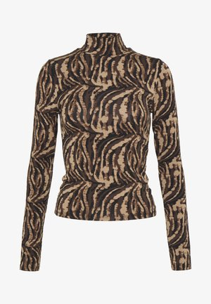 DORSIA TURTLENECK - Longsleeve - brown/black