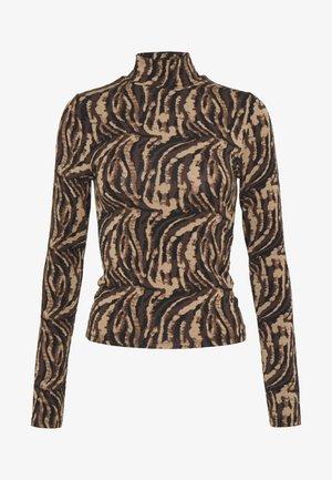 DORSIA TURTLENECK - Langarmshirt - brown/black