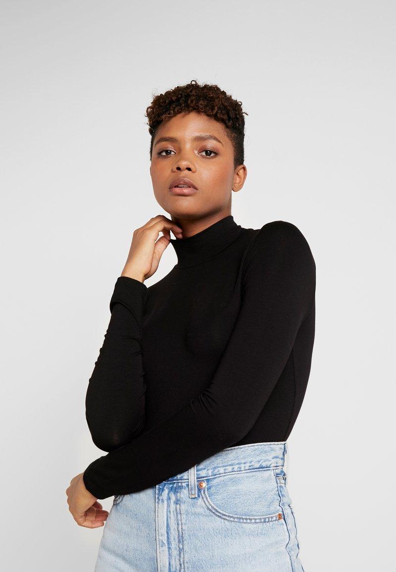 Gina Tricot - DORSIA TURTLENECK - Long sleeved top - black
