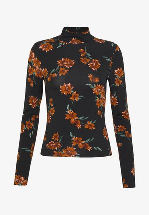 DORSIA TURTLENECK - Top s dlouhým rukávem - black/orange