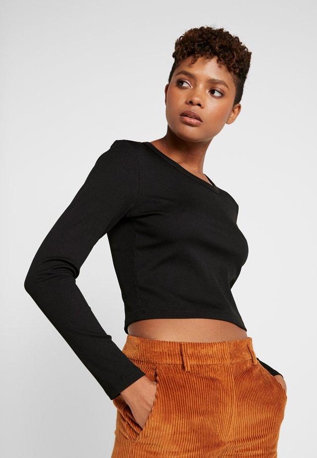 MIA - Bluzka z długim rękawem - black