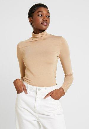 DORA TURTLENECK - Long sleeved top - camel beige