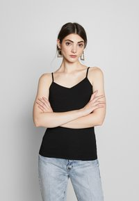 Gina Tricot - BASIC SINGLET 2 PACK - Top - black/white - 4