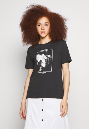 EDITH TEE - T-Shirt print - black