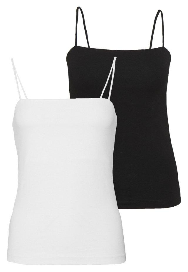 SCARLETT SINGLET 2 PACK - Top - black/white
