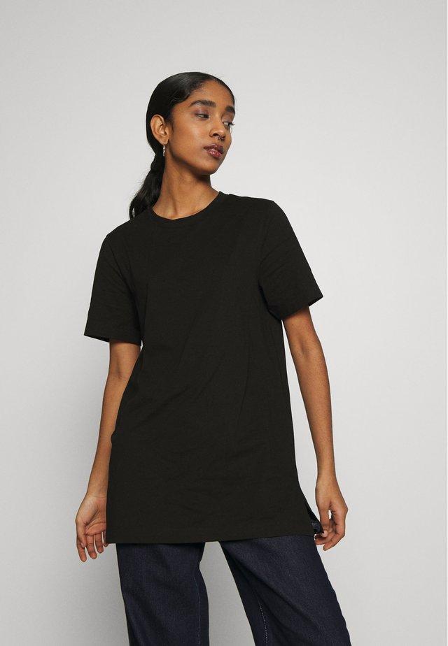 MANDY LONG TEE - Basic T-shirt - black