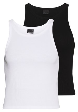 SANNA TANK 2 PACK - Top - black/white