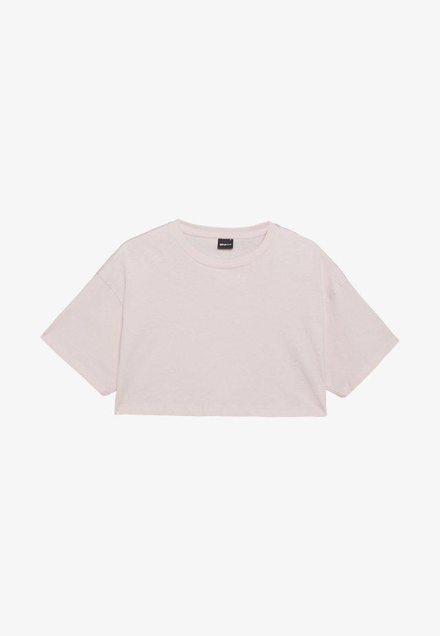 ZACHA CROPPED TEE - T-shirt - bas - rose dust