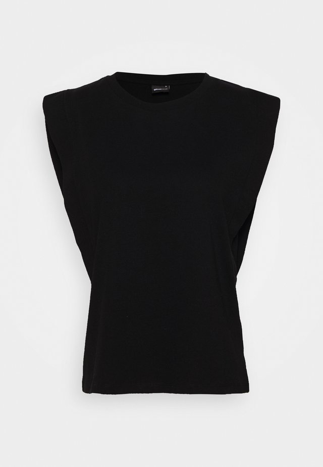 CHARLIE TANK - T-shirt - bas - black