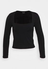 Gina Tricot - LEA SQUARE NECK - Langærmede T-shirts - black - 4