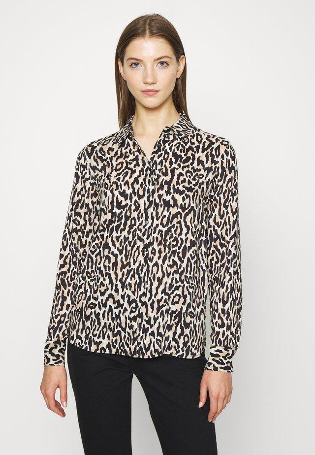VILMA  - Button-down blouse - brown/black