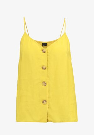 MINDY BUTTON DOWN SINGLET - Top - mustard yellow