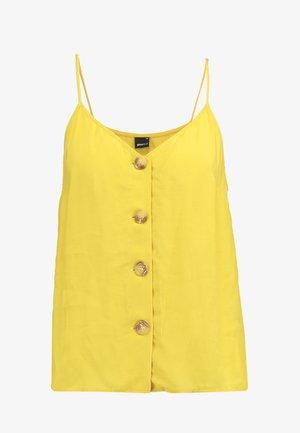 MINDY BUTTON DOWN SINGLET - Topper - mustard yellow